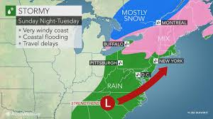 Travel Weather Map Major Storm To Raise Flooding Risk In Northeastern Us Amidst