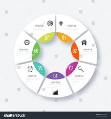 circle layout vector infographics template 7 options circles can stock vector 672446227