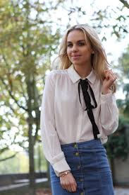 blouse with tie neck the tie neck blouse nexttake12 the door