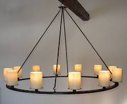 Real Candle Chandelier Ace Wrought Iron Custom Katonah Pillar Chandelier By Clayton J Bryant