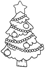 tree ornament coloring page happy holidays