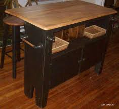 Black Distressed Kitchen Island by Kitchen Islands Archives Wes Dalgo