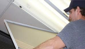 installing fluorescent light fixture skypanels installation fluorescent light panels covers diffusers