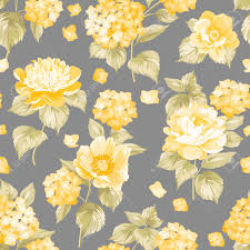 Flower Fabric Design Seamless Yellow Flower Pattern For Fabric Design Royalty Free