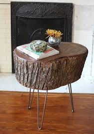 tree stump accent table 17 apart how to diy stump table