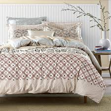 bed sheet fabric adult owl bedding sets queen king size cotton printed fabric plaid