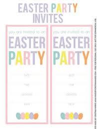 free vintage easter invitation template print free