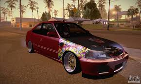 tuner honda civic honda civic tuning 2012 for gta san andreas