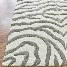 zebra print with faux silk highlights rug from earth by nuloom