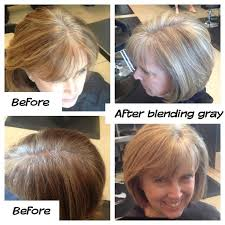 photos of gray hair with lowlights blending in grey in brown hair yahoo image search results good