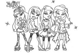 girly adventures of bratz 20 bratz coloring pages free printables