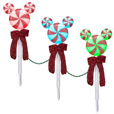 light show pathway stakes peppermint mickey ears