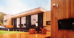 flat roof timber fascia private residence modernist
