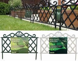 victorian iron effect plastic garden flower bed lawn edging fence