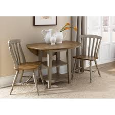 round dining room table with leaf liberty furniture paxton 3 piece drop leaf set hayneedle