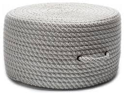 Pouf Ottomans Collection In Pouf Ottoman Braided Pouf Shadow Gray