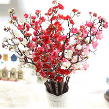 silk flowers hot sale artificial flowers plum flower artificial plants tree