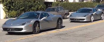 silver 458 italia his and hers matching 458 spider and italia