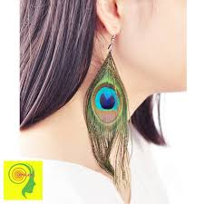 feather earing peacock feather earring earring all products