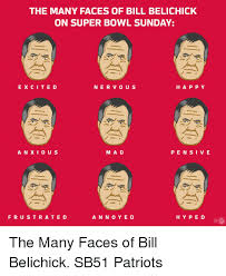 Super Happy Meme Face - the many faces of bill belichick on super bowl sunday