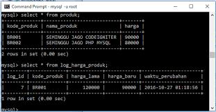 membuat database lewat cmd tutorial menggunakan trigger pada database mysql belajarphp net