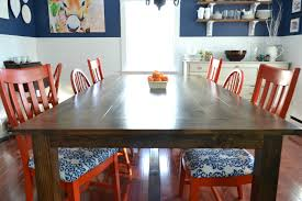 ana white farmhouse table with peg and hole accents diy projects an antique cribbage table with peg and hole construction gave me just the inspiration i was looking for