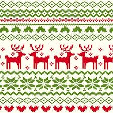green fairisle reindeer pattern on ivory cotton jersey blend