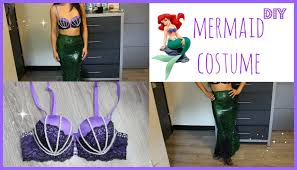 easy diy halloween costume how to be a mermaid or ariel no sew