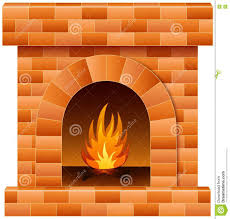 christmas fireplace with fire and firewood stock vector image