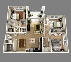 3 Bedroom House Design Incredible 3 Bedroom House Plans 3d Design With 3 Bathroom Home