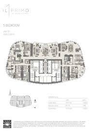 Five Bedroom Floor Plan Il Primo The Opera District Emaar Off Plan Properties