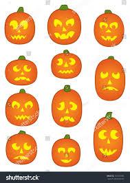 cute jack o lantern clipart eleven jack o u0027 lantern pumpkins with funny and mean