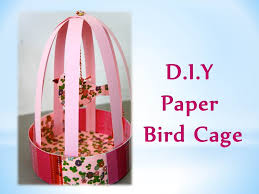 How To Decorate A Birdcage Home Decor Diy How To Make Paper Bird Cage Youtube