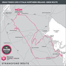 Map Your Running Route by Routes Gran Fondo Giro D U0027italia Northern Ireland