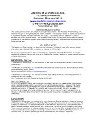 Cosmetology Resume Examples Beginners by Sample Resume For Cosmetology Student Free Resume Example And