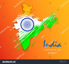 Indian Map India Map National Flag Tricolour Floral Stock Vector 449909464