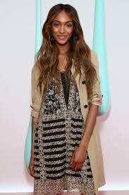 jordan dunn silver hair on the scene the burberry dk88 bag launch with serena williams