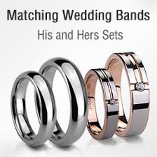 matching wedding rings for him and tungsten rings wedding bands matching sets for every memorable