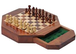 bulk wholesale 11 u201d octagonal chess board u2013 handmade wooden travel