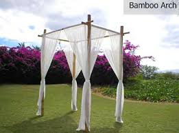 wedding arches bamboo hawaiian island weddings special services