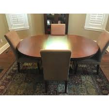 restoration hardware expandable dining table w 4 aptdeco
