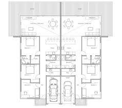 House Plans For Two Families Duplex House Ch120d House Plan For Two Families House Plan