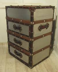 antiques atlas brushed steel cabin trunk dressing chest