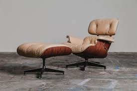 a limited edition natural leather eames lounge chair huh