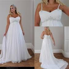 plus size wedding dresses cheap discount plus size wedding dress 2015 straps pleats chiffon