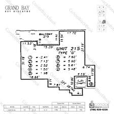 Floor Plan Key Grand Bay Residences Unit 215 Condo For Sale In Key Biscayne