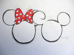 minnie mouse pencil drawings chainimage