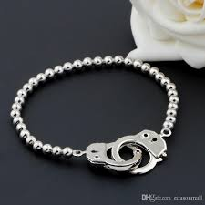 silver plated copper bracelet images Fashion unisex silver plated copper buckle elastic beads bracelet jpg