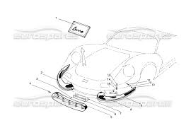 ferrari front drawing ferrari 206 gt dino coachwork front bumpers grills u0026 fixings