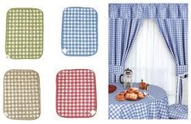 Blue Kitchen Curtains Gingham Kitchen Curtains From Century Textiles